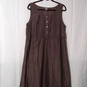 Women's J.  Jill Maxi Dress Chocolate Brown Size L
